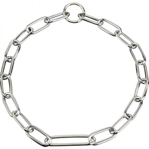 Halskette, mit extra langem Mittelglied - Stahl verchromt, 4,0 mm/Ring