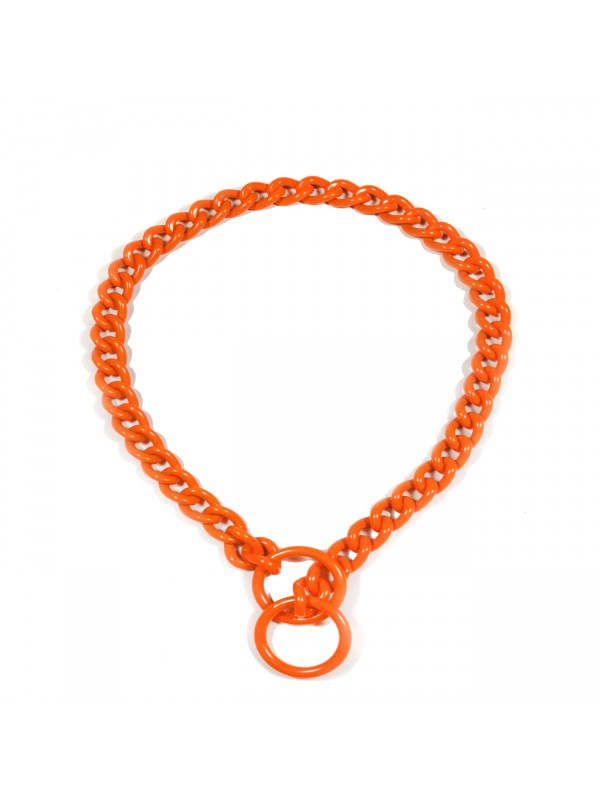 Kettenhalsband - Orange - Klein
