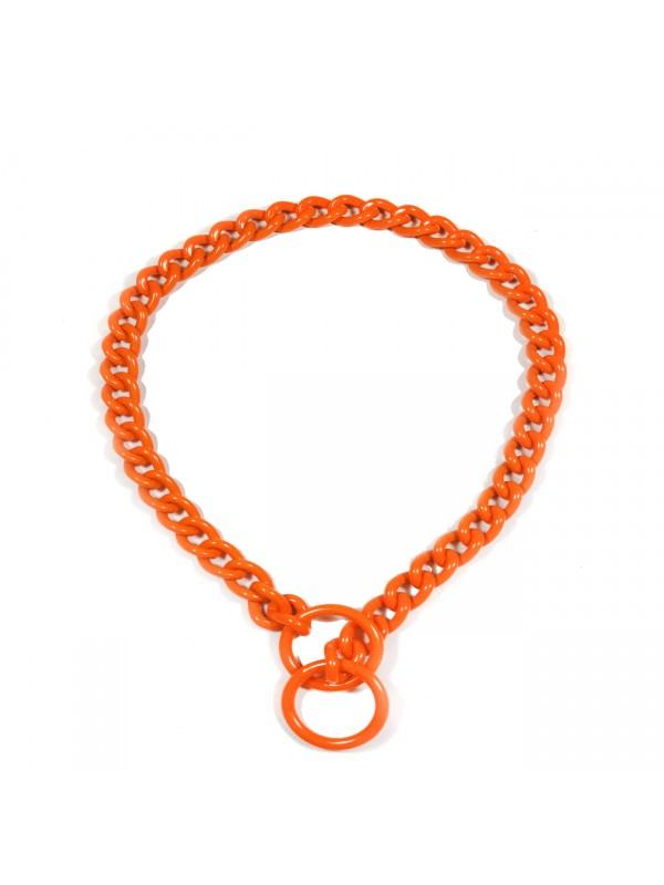Kettenhalsband - Orange - Klein