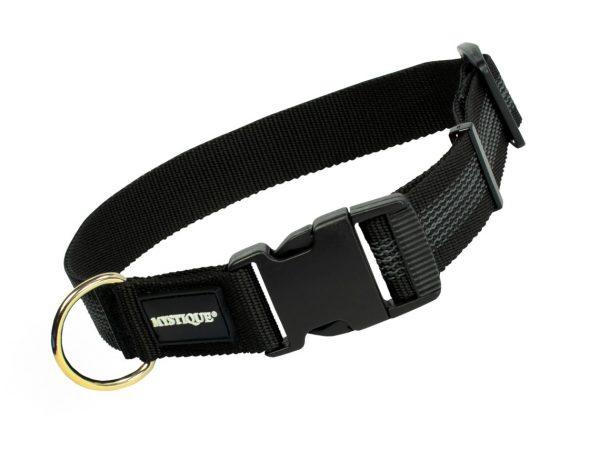 Gummiertes Halsband 30mm Schwarz