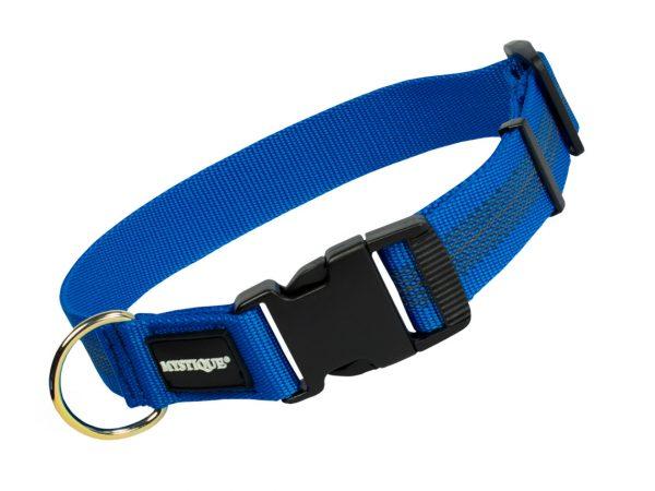 Gummiertes Halsband 30mm Blau