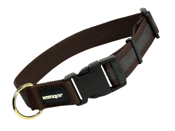 Gummiertes Halsband 30mm Braun