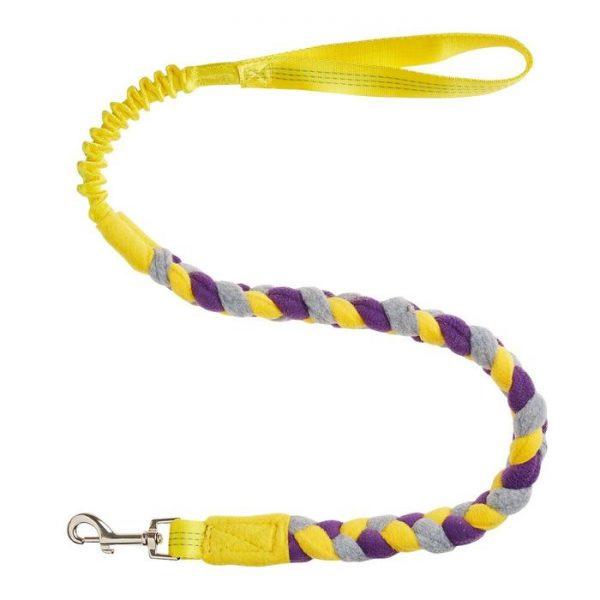 TUG-E-NUFF - Bungee Hundeleine Fleece Gelb